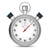 Stopwatch illustration. Realistic Stopwatch illustration on white background with shadow Stock Photography