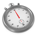 Stopwatch isolated on white Royalty Free Stock Photo