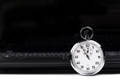 Stopwatch Laptop Royalty Free Stock Photo