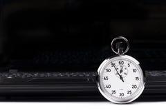 Stopwatch Laptop Royalty Free Stock Photo
