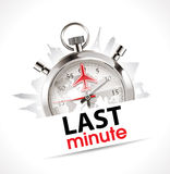 Stopwatch - Last minute - travel and tourism. Concept stock illustration