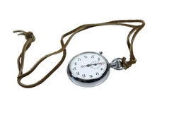 Stopwatch on Leather Cord Stock Images