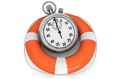 StopWatch with Life Buoy Royalty Free Stock Images