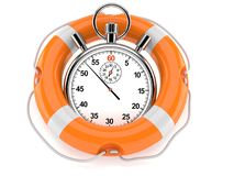 Stopwatch with life buoy. Isolated on white background royalty free illustration