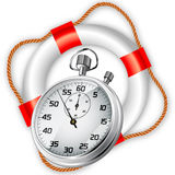 StopWatch in Lifebuoy Royalty Free Stock Image