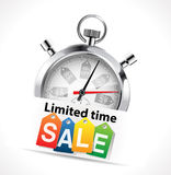 Stopwatch - limited time sale royalty free illustration