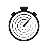 Stopwatch line vector icon. Fast time delivery vector illustration