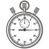 stopwatch Meccanismo per la misura accurata degli intervalli di tempo illustrazione vettoriale