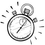 Stopwatch nakreślenie Fotografia Royalty Free