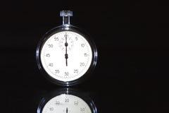Stopwatch On Dark Stock Image