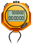 Stopwatch. Orange stopwatch with string attached stock illustration