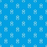 Stopwatch pattern seamless blue. Stopwatch pattern repeat seamless in blue color for any design. Vector geometric illustration Stock Photo