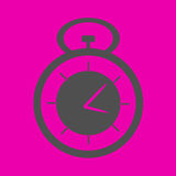 Stopwatch at the pink background Stock Image