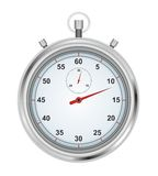 Stopwatch. With red arrow on white background Stock Image