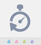 Stopwatch Reset - Granite Icons Stock Photo