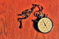 Stopwatch with retro effect Royalty Free Stock Photo