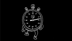 Stopwatch Running Drawing 2D Animation