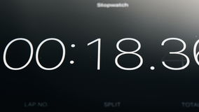 Stopwatch Running On Tablet