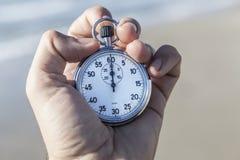 Stopwatch on Sea Stock Image