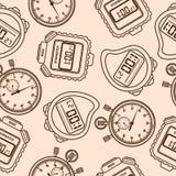 Stopwatch. Seamless. Stock Photos