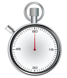 Stopwatch. With 60 second dial for timekeeping time. Vector illustration Royalty Free Stock Photos