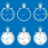 Stopwatch set Stock Image