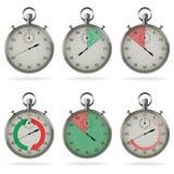 Stopwatch set Royalty Free Stock Image