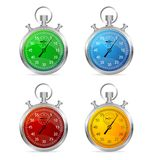 Stopwatch set vector illustraion Stock Photography