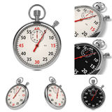Stopwatch Set on White Background. Stock Photos