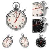 Stopwatch Set on White Background. Stock Photos