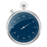 Stopwatch silver and blue Royalty Free Stock Image
