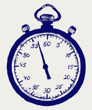 Stopwatch sketch Stock Images
