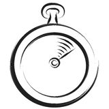 Stopwatch sketch Royalty Free Stock Photography
