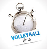Stopwatch - Sport Volleyball Stock Photo