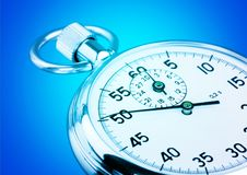 Stopwatch. Clock measuring part of black timescale number Stock Photo