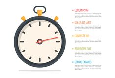 Stopwatch. And five elements with text royalty free illustration