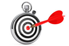 Stopwatch with Target and Dart Arrow Royalty Free Stock Photo