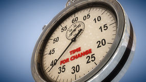 Stopwatch and time. For change Stock Photos
