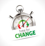Stopwatch - time for change royalty free illustration
