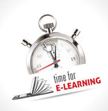 Stopwatch - Time for e-learning Royalty Free Stock Photos