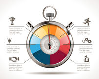Stopwatch - time management. Stopwatch icons - time management concept Stock Photo
