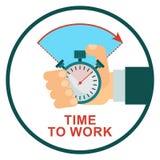 Stopwatch time to work Stock Photos