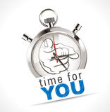 Stopwatch - time for YOU. Time concept stock illustration