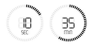 Stopwatch timer vector digital countdown stock illustration