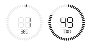 Stopwatch digital second minute countdown timer. Stopwatch timer with minutes and seconds digital countdown display. Isolated black on white vector background stock illustration