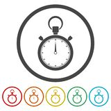 Stopwatch timer symbol. Vector icon stock illustration