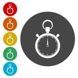 Stopwatch timer symbol. Vector icon royalty free illustration