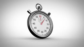 Stopwatch timing on grey background. Digital animation of Stopwatch timing on grey background stock illustration