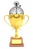 Stopwatch with Trophy Stock Image