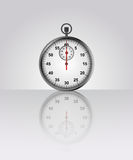 Stopwatch vector drawing with floor reflection Stock Image